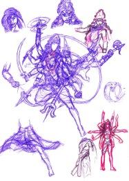 Durga detaljskisser