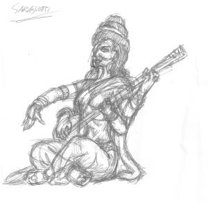 Sarasvati-skiss