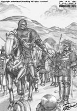 Yakane talar till trupperna inför Slaget om Arbine