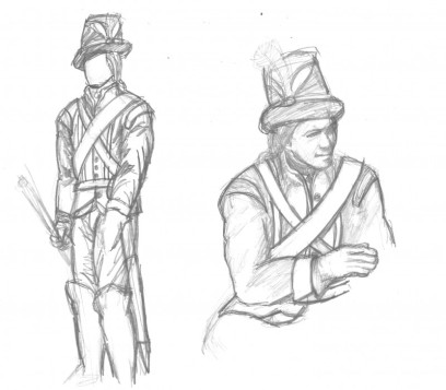 Livgardets Unifrom 1779 för Björn