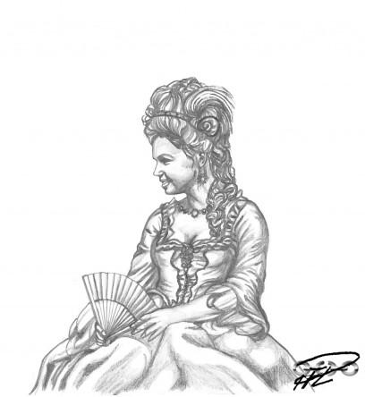Jenny i Fransk sen 1700-talsklänning