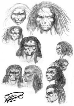 Skisser Yakanes ansikte från 90-talet
