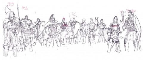 Studier bysantinska krigare