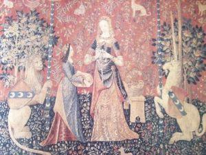 Målning klänningar 1300-tal