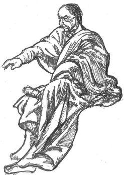 Romersk-bysantinsk toga, tuschstudie
