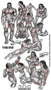 Studier i Yakanes Anatomi m ärr & tatueringar