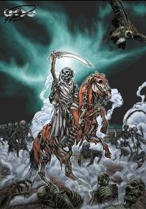 Liemannen rider fram och kallar de döda till strid.