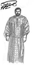 Bysantinsk Dräkt Adjutant o.dy.