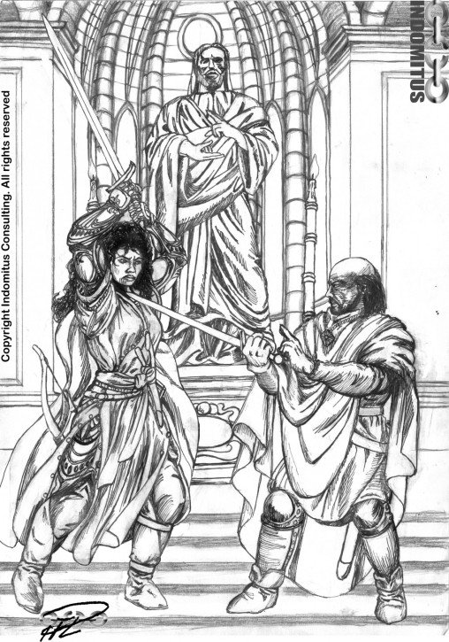 Corinna & Yvaine Standoff i Klostret - tusch