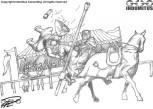 Yakane bjuder en riddare på himmelsfärd