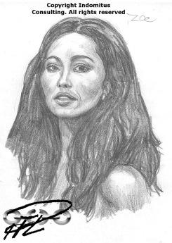 Porträtt av Barbara Carrera för Zoe