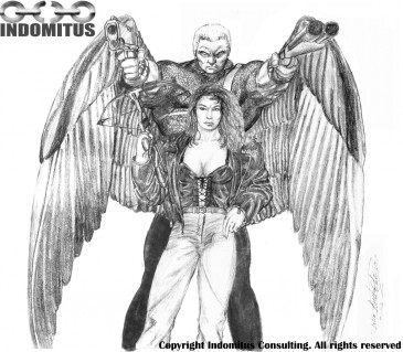 Änglalik Mutant, Lädertjej, stora puffror & Armborst - 1994