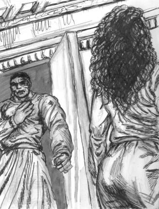 Yakane avvisar Corinnas kläder & hår