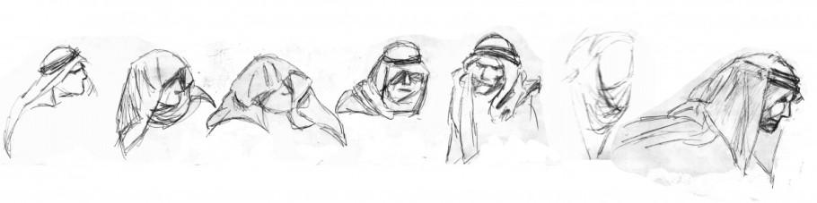 Mina studier av Keffiyeh-dok från källor