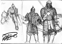 skisser Kungliga mamlucker i tung rustning