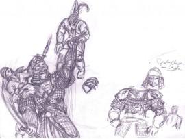 """Kladdar Djaq-chigin från """"Gladiator"""""""