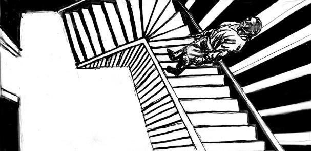 Yakane i trappan, perspektivstudie