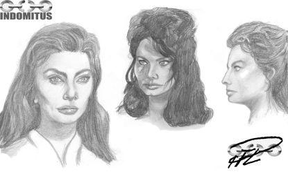 Ansiktsstudier av Sophia Loren för Zoe