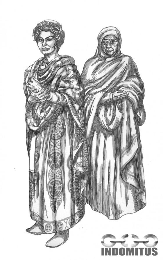 Zoe och hennes tjänarinna Anna skall ut på stan