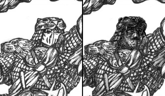 Djaq-chigin old and new mask