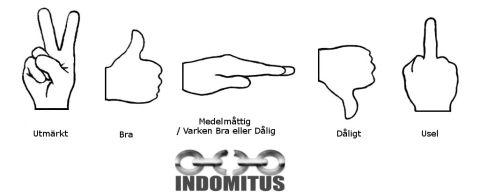 Indomitus Betygsskala - från Utmärkt till Uselt