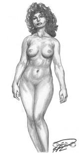 Stående naken Zoe