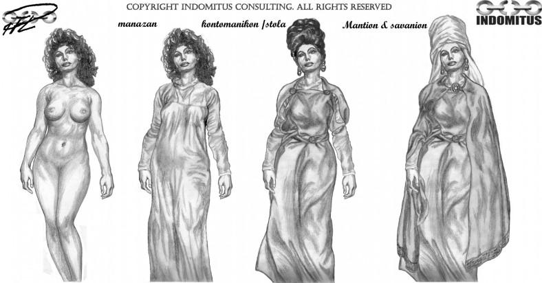 zoe kläs på bysantinsk klädedräkt
