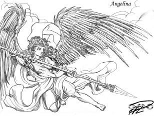 En kvinnlig ängel (eller är det Nike?) för Angelina