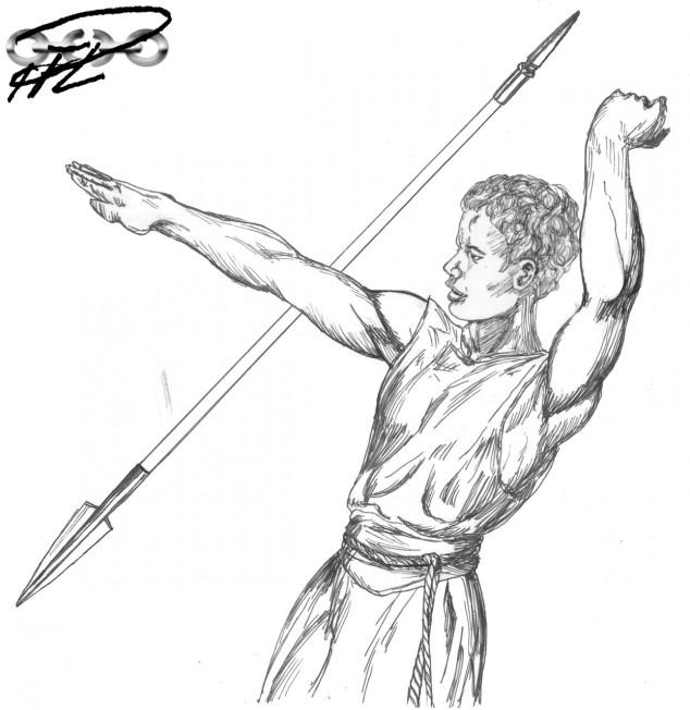 Joel den Unge, med sitt spjut