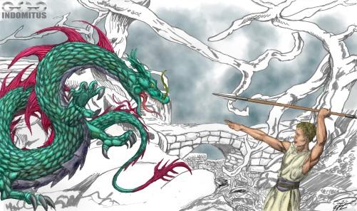 Joel och Draken med bakgrund