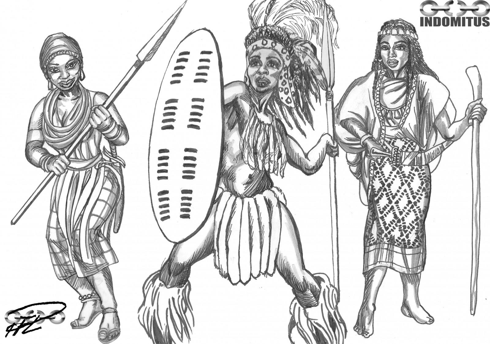 Zulu flickor nakna real