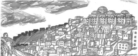 Utkast storyboard Apostlaberget