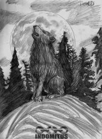 Davids Varg ylar mot Månen