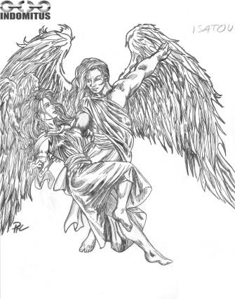 Dansande flygande änglar