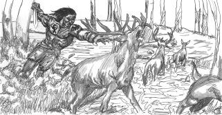 Yakane språng vid Hjortjakt i Landet Bortom