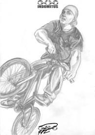 För Zakarias - En kepsklädd Eminem tar till väders i en BMX-cykel