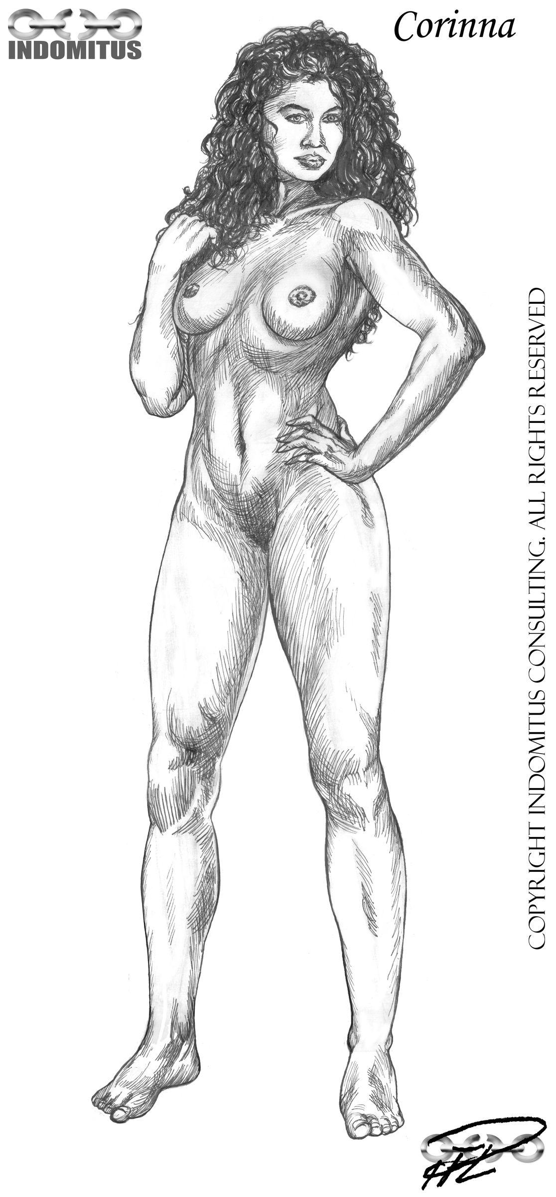 Corinna helkropps nakenstudie tusch