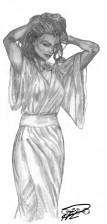 Kati kinesisk klädsel skiss