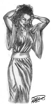 Kati kinesisk klädsel tusch