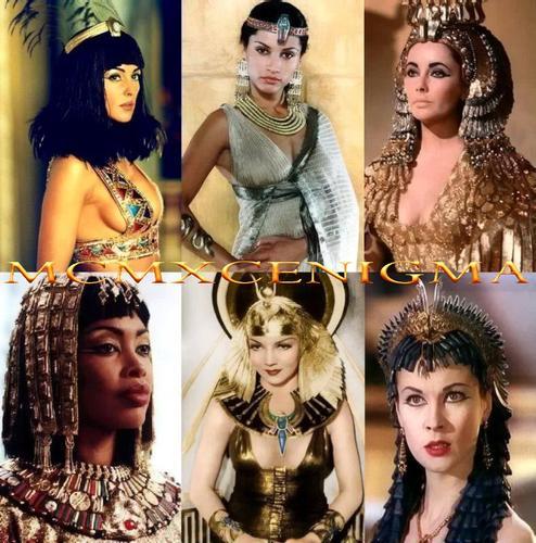 Några Kleopatror genom åren: Monica Bellucci, Leonor Varela, ...