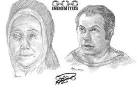 Anna Zoes tjänarinna & Athames Yakanes hovmästare blyerts