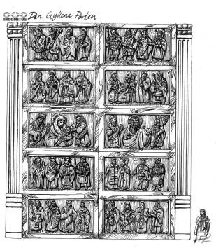 Den Gyllene Porten detaljstudie Tusch
