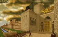 Aracanea och den Gyllene Porten - solnedgång m tillägg