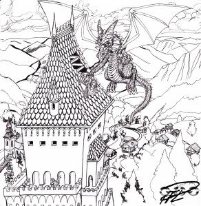 Draken lagar prinsessans borg