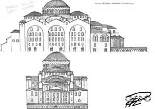 Ekklesia Sotiros, Frälsarkyrka i Aracanea, västra & södra fasaden