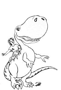 Prins Albin rider på Dina Dinosaurien