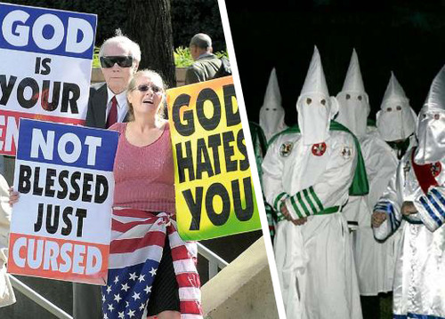 Årets Match! Westboro-stollar vs Ku Klux Klan-dårar!