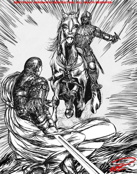 Yakane & framstormande riddare rättvänd