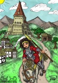 Färgtest för Prinsessan Julia rider från slottet