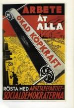 Valaffisch socialdemokraterna SAP 2 1934